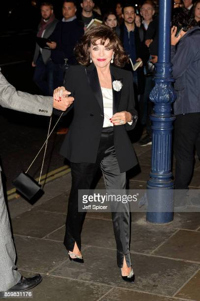 Dame Joan Collins attends the opening night of 'Mel Brooks' Young Frankenstein' at Garrick Theatre on October 10 2017 in London England