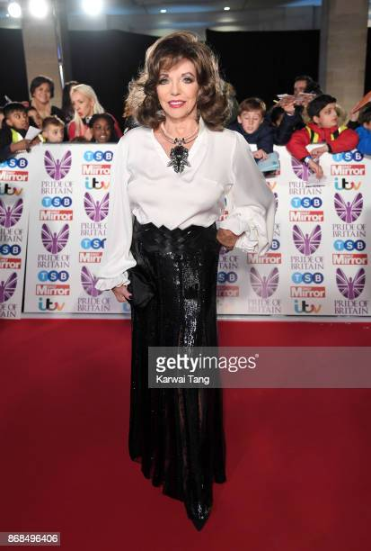 Dame Joan Collins attends the Pride Of Britain Awards at the Grosvenor House on October 30 2017 in London England