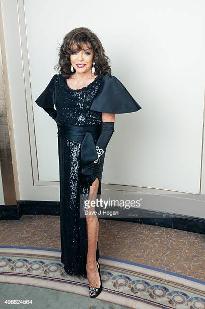 Dame Joan Collins attends the Shooting Star Chase Ball at The Dorchester on October 4 2014 in London England