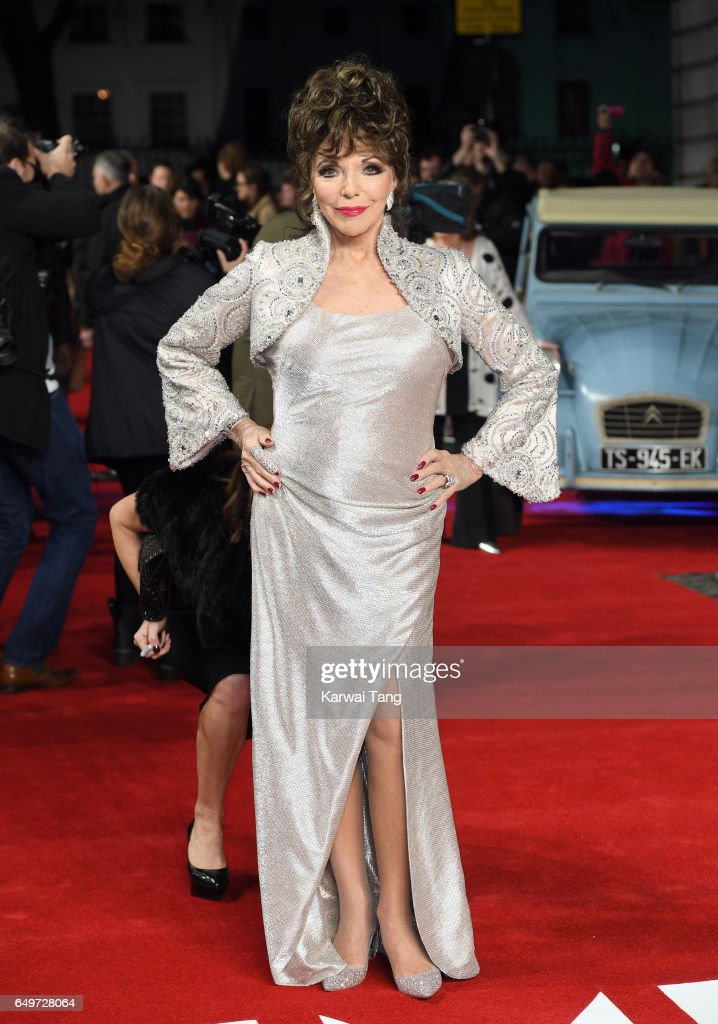 Dame Joan Collins attends the World Premiere of 'The Time Of Their Lives' at the Curzon Mayfair on March 8, 2017 in London, United Kingdom.