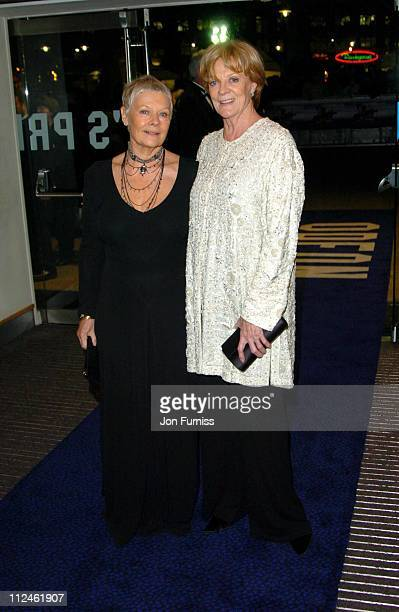Dame Judi Dench and Dame Maggie Smith during 'Ladies in Lavender' Royal London Premiere Inside Arrivals at Odeon Leicester Square in London Great...