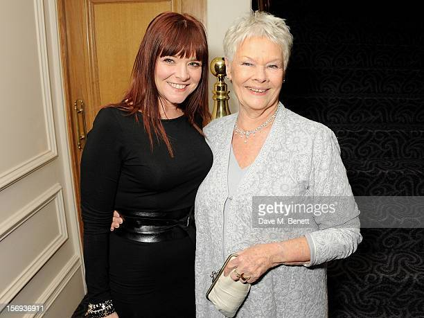 Dame Judi Dench and daughter Finty Williams attend a drinks reception at the 58th London Evening Standard Theatre Awards in association with Burberry...