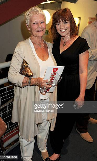 Dame Judi Dench and daughter Finty Williams attend an afterparty following Press Night of Mike Poulton's new production of 'Luise Miller' at The...