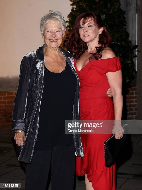 Dame Judi Dench and daughter Finty Williams attend as Zoe Wanamaker hosts a Gala Dinner at Shakespeare's Globe on October 17, 2013 in London, England.