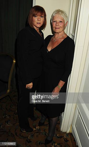 Dame Judi Dench and daughter Finty Williams attend the afterparty following the press night of 'Betty Blue Eyes' at The Waldorf Hilton Hotel on April...