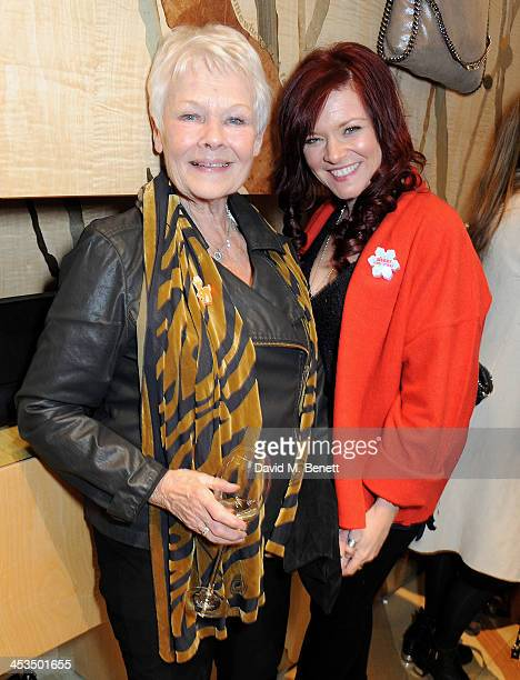 Dame Judi Dench and daughter Finty Williams attend the Stella McCartney Christmas Lights Switch On at the Stella McCartney Bruton Street Store on...