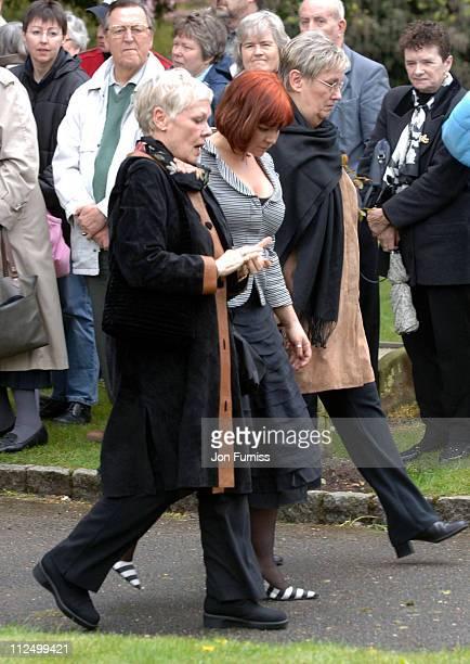 Dame Judi Dench and daughter Vinty during Funeral of Actor Sir John Mills April 27 2005 at The Parish Church of Saint Mary the Virgin in Denham Great...