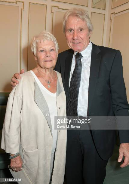 Dame Judi Dench and David Mills attend the Fortnum Mason Food and Drink Awards at the Diamond Jubilee Tea Salon in the Piccadilly flagship store on...