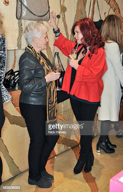 Dame Judi Dench and Finty Williams attend as the Christmas lights are switched on at Stella McCartney on December 4, 2013 in London, England.
