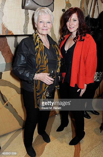 Dame Judi Dench and Finty Williams attend the Stella McCartney Christmas Lights Switch On at the Stella McCartney Bruton Street Store on December 4,...