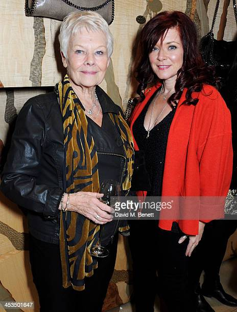Dame Judi Dench and Finty Williams attend the Stella McCartney Christmas Lights Switch On at the Stella McCartney Bruton Street Store on December 4...