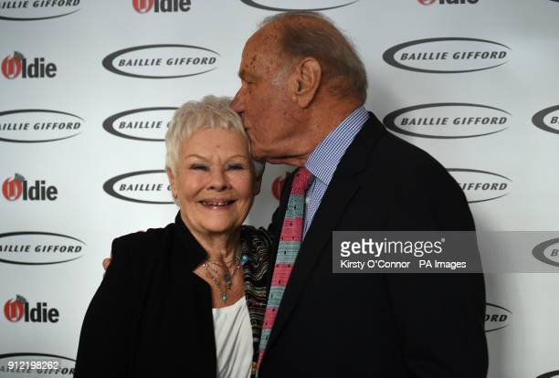 Dame Judi Dench and Geoffrey Palmer attending The Oldie of the Year Awards at Simpsons in the Strand central London