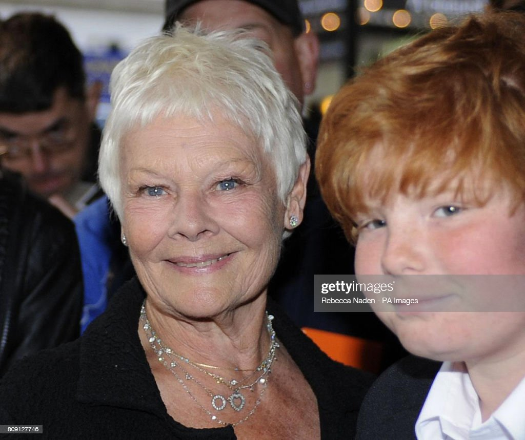 Dame Judi Dench and grandson Sam arrive ...