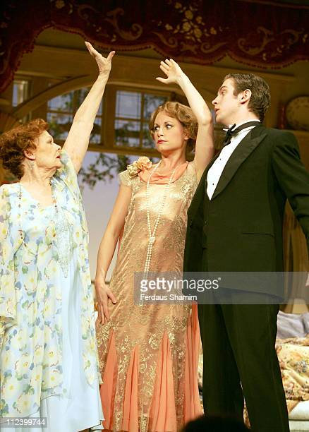 Dame Judi Dench and Kim Medcalf during 'Hay Fever' Rehearsal London Photocall April 19 2006 at Theatre Royal in London Great Britain