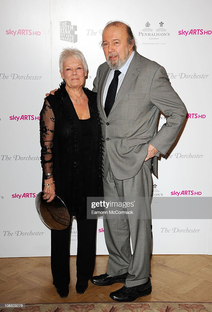 Dame Judi Dench and Peter Hall at the South Bank Sky Arts Awards at The Dorchester on January 25, 2011 in London, England.