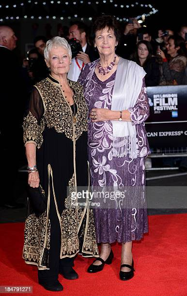 Dame Judi Dench and Philomena Lee attend a screening of 'Philomena' during the 57th BFI London Film Festival at the Odeon Leicester Square on October...