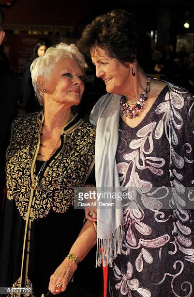 Dame Judi Dench and Philomena Lee attend the American Express Gala Screening of 'Philomena' during the 57th BFI London Film Festival at Odeon...