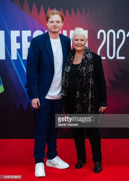 """Dame Judi Dench and Sam Williams attend the """"Belfast"""" European Premiere during the 65th BFI London Film Festival at The Royal Festival Hall on..."""