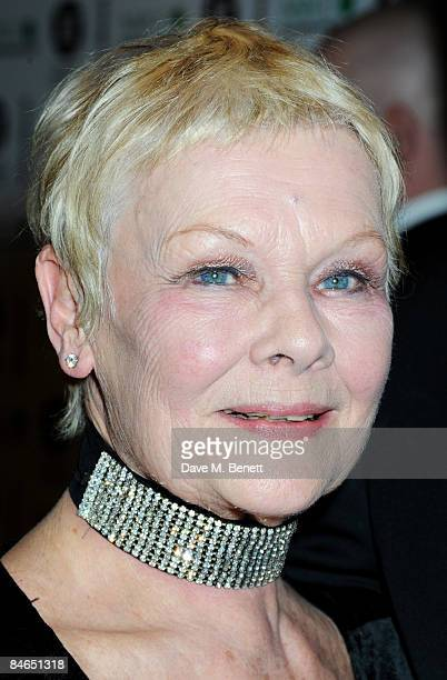 Dame Judi Dench arrives at the The London Critics' Circle Film Awards 2009, at the Grosvenor House Hotel on February 4, 2009 in London, England.