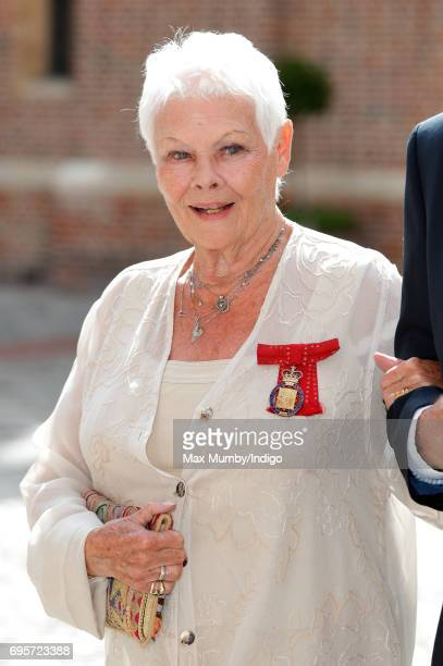 Dame Judi Dench arrives to attend Evensong at the Chapel Royal Hampton Court Palace to celebrate the Centenary of the founding of the Companions of...