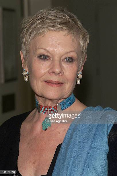 Dame Judi Dench arriving at the world film premiere of Miramax's 'Iris' afterparty at the Fred's in New York City 12/2/2001 Photo Evan...