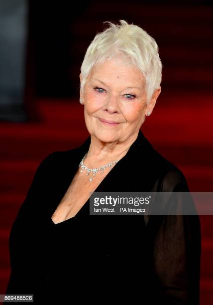 Dame Judi Dench attending the world premiere of Murder On The Orient Express at the Royal Albert Hall London