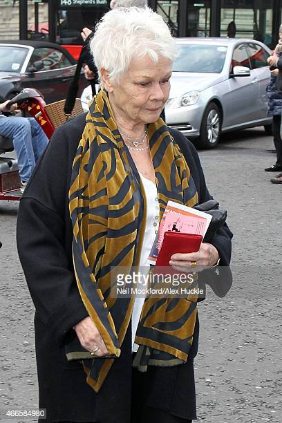 Dame Judi Dench attends a Memorial Service for Sir Richard Attenborough at Westminster Abbey on March 17 2015 in London England