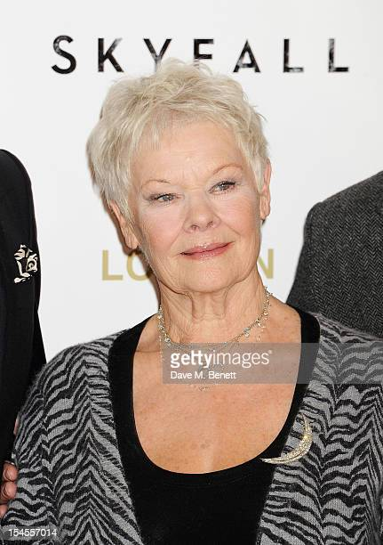 Dame Judi Dench attends a photocall for the new James Bond film 'Skyfall' at The Dorchester on October 22, 2012 in London, England.