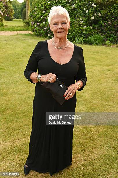 Dame Judi Dench attends the Duke of Edinburgh Award 60th Anniversary Diamonds are Forever Gala at Stoke Park on June 9 2016 in Guildford England