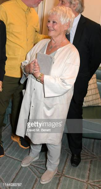 Dame Judi Dench attends the Fortnum Mason Food and Drink Awards at the Diamond Jubilee Tea Salon in the Piccadilly flagship store on May 16 2019 in...