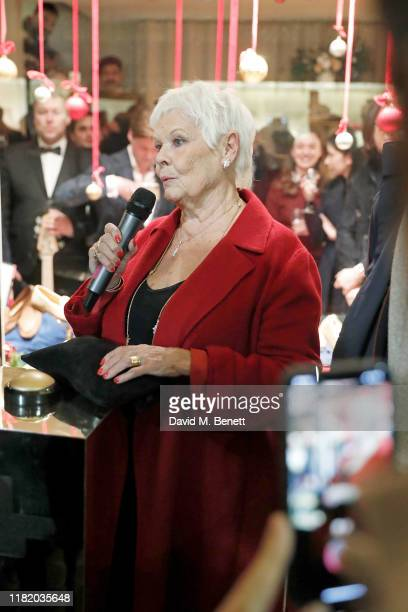 Dame Judi Dench attends the launch of the 200th Burlington Christmas at Burlington Arcade on November 12 2019 in London England