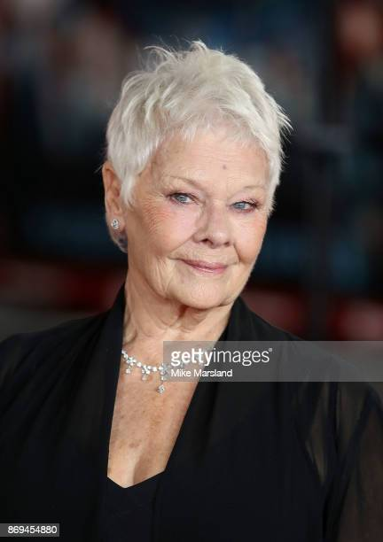 Dame Judi Dench attends the 'Murder On The Orient Express' World Premiere at Royal Albert Hall on November 2 2017 in London England