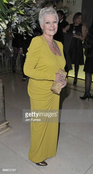 Dame Judi Dench attends the ''Nine'' world film premiere after party at Claridges Hotel on December 3 2009 in London England