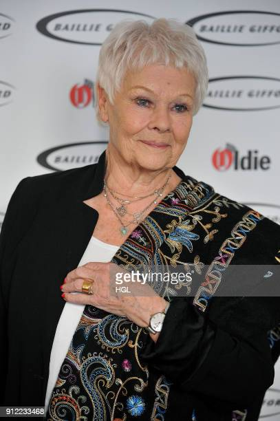 Dame Judi Dench attends the 'Oldie Of The Year Awards' held at Simpsons in the Strand on January 30 2018 in London England