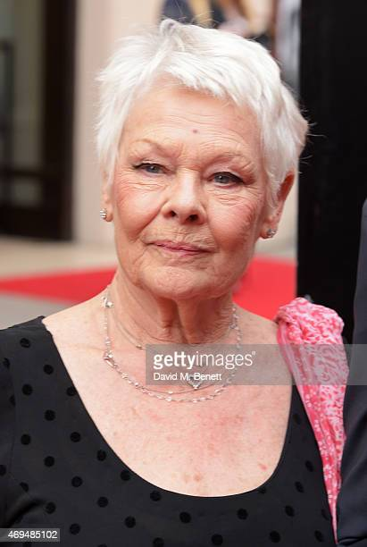 Dame Judi Dench attends The Olivier Awards at The Royal Opera House on April 12 2015 in London England