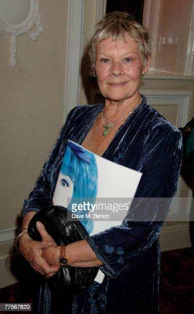 Dame Judi Dench attends the press night of 'Hairspray' at the Shaftesbury Theatre on October 30 2007 in London England