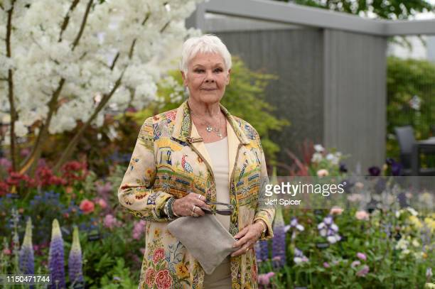 Dame Judi Dench attends the RHS Chelsea Flower Show 2019 press day at Chelsea Flower Show on May 20 2019 in London England