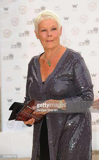 Dame Judi Dench attends the Summer fundraising party for The Old Vic Theatre at Battersea Power station on July 1, 2010 in London, England.