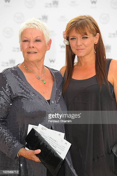 Dame Judi Dench attends the Summer fundraising party for The Old Vic Theatre at Battersea Power station on July 1 2010 in London England