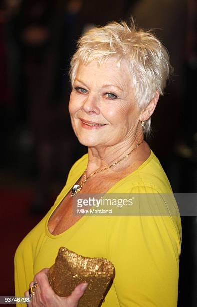 Dame Judi Dench attends the World Premiere of Nine at the Odeon Leicester Square on December 03 2009 in London England