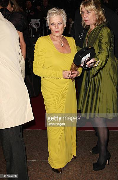 Dame Judi Dench attends the world premiere of Nine held at the Odeon Leicester Square on December 3 2009 in London England