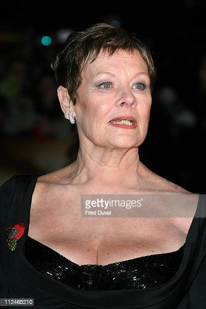 Dame Judi Dench attendsthe world premiere of 'Quantum of Solace' at Odeon Leicester Square on October 29 2008 in London England