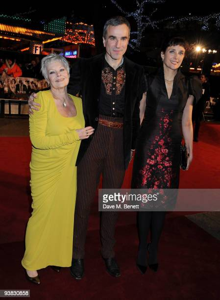 Dame Judi Dench Daniel Day Lewis and Rebecca Miller attends the 'Nine' world film premiere at the Odeon Leicester Square on December 3 2009 in London...