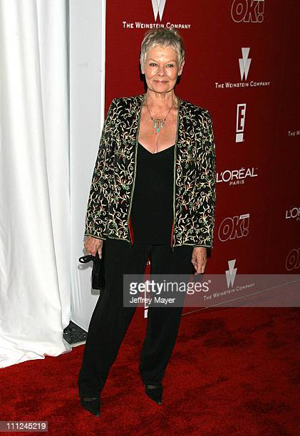Dame Judi Dench during 2006 Weinstein Company PreOscar Party Arrivals at Pacific Design Center in West Hollywood California United States