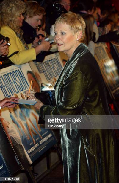 Dame Judi Dench during Mrs Henderson Presents London Premiere at Vue West End in London Great Britain