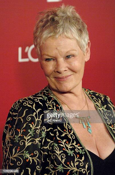 Dame Judi Dench during The 2006 Weinstein Company PreOscar Party at Pacific Design Center in West Hollywood CA United States