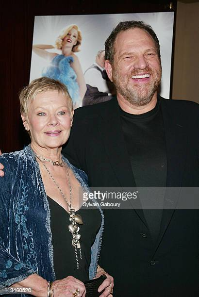 Dame Judi Dench Harvey Weinstein during Weinstein Company Screening of Mrs Henderson Presents at The MGM Screening Room in New York New York United...