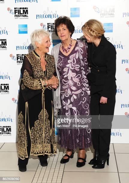 Dame Judi Dench Philomena Lee and Sophie Kennedy Clark attending a gala screening for new film Philomena at the Odeon Cinema in London