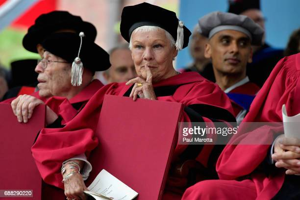 Dame Judi Dench received an Honorary Doctor of Arts Degree from Harvard University at its 2017 366th Commencement Exercises on May 25 2017 in...