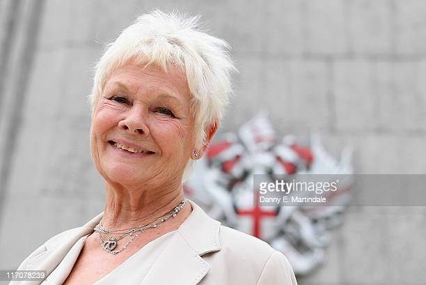 Dame Judi Dench receives the Freedom of the City of London at the Guildhall on June 21 2011 in London England